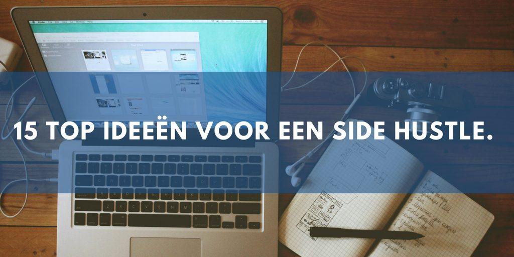 laptop met journaal met ideeen voor een side hustle
