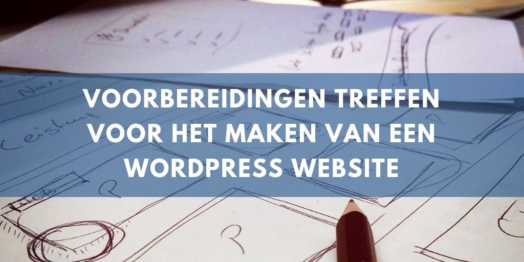 voorbereidingen wordpress website